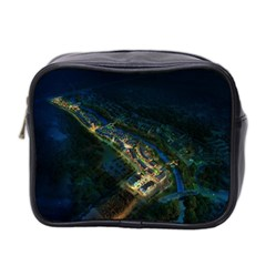 Commercial Street Night View Mini Toiletries Bag 2 Side