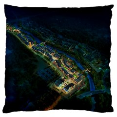 Commercial Street Night View Large Cushion Case (two Sides)