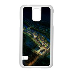 Commercial Street Night View Samsung Galaxy S5 Case (white)