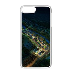 Commercial Street Night View Apple Iphone 7 Plus Seamless Case (white)