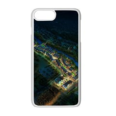 Commercial Street Night View Apple Iphone 8 Plus Seamless Case (white)