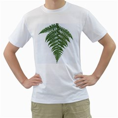 Boating Nature Green Autumn Men s T Shirt (white) (two Sided)