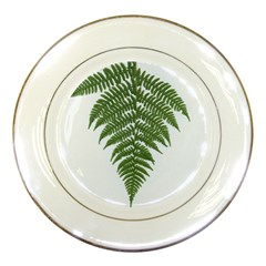Boating Nature Green Autumn Porcelain Plates