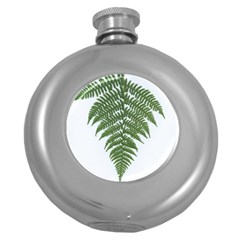 Boating Nature Green Autumn Round Hip Flask (5 Oz)