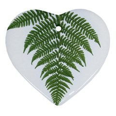 Boating Nature Green Autumn Heart Ornament (two Sides)