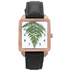 Boating Nature Green Autumn Rose Gold Leather Watch  by BangZart