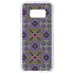 Vintage Abstract Unique Original Samsung Galaxy S8 White Seamless Case