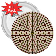 Kaleidoscope Online Triangle 3  Buttons (100 Pack)  by BangZart