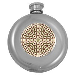 Kaleidoscope Online Triangle Round Hip Flask (5 Oz) by BangZart