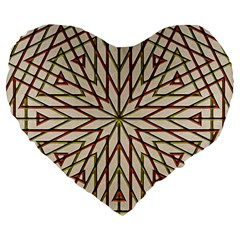 Kaleidoscope Online Triangle Large 19  Premium Heart Shape Cushions by BangZart