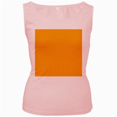 Texture Background Pattern Women s Pink Tank Top