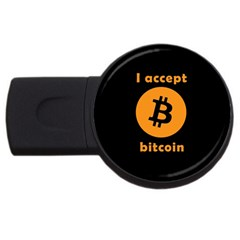 I Accept Bitcoin Usb Flash Drive Round (4 Gb) by Valentinaart