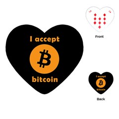 I Accept Bitcoin Playing Cards (heart)  by Valentinaart
