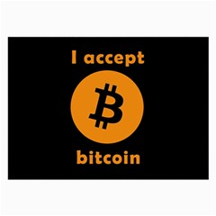I Accept Bitcoin Large Glasses Cloth by Valentinaart