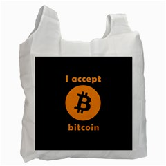 I Accept Bitcoin Recycle Bag (two Side)  by Valentinaart