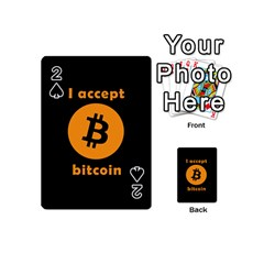 I Accept Bitcoin Playing Cards 54 (mini)  by Valentinaart