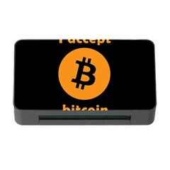 I Accept Bitcoin Memory Card Reader With Cf by Valentinaart