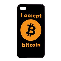 I Accept Bitcoin Apple Iphone 4/4s Seamless Case (black) by Valentinaart