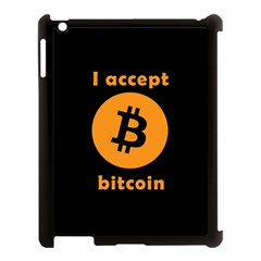I Accept Bitcoin Apple Ipad 3/4 Case (black) by Valentinaart