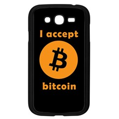 I Accept Bitcoin Samsung Galaxy Grand Duos I9082 Case (black) by Valentinaart
