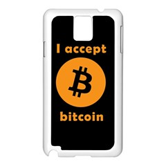 I Accept Bitcoin Samsung Galaxy Note 3 N9005 Case (white) by Valentinaart