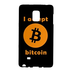 I Accept Bitcoin Galaxy Note Edge by Valentinaart