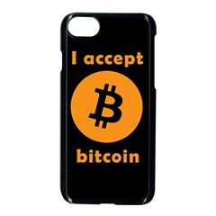 I Accept Bitcoin Apple Iphone 7 Seamless Case (black) by Valentinaart