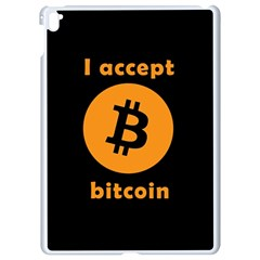 I Accept Bitcoin Apple Ipad Pro 9 7   White Seamless Case by Valentinaart