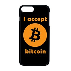I Accept Bitcoin Apple Iphone 8 Plus Seamless Case (black) by Valentinaart