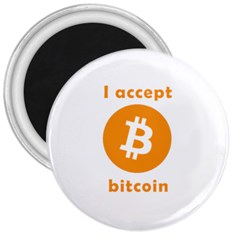 I Accept Bitcoin 3  Magnets by Valentinaart