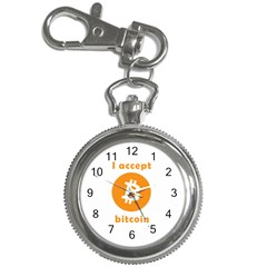 I Accept Bitcoin Key Chain Watches by Valentinaart
