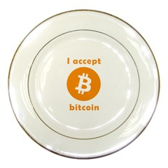 I Accept Bitcoin Porcelain Plates by Valentinaart