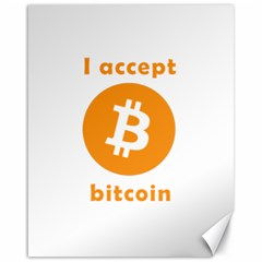 I Accept Bitcoin Canvas 16  X 20   by Valentinaart