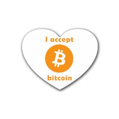 I Accept Bitcoin Heart Coaster (4 Pack)  by Valentinaart