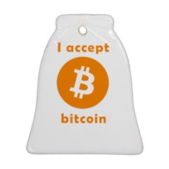 I Accept Bitcoin Ornament (bell) by Valentinaart