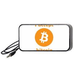 I Accept Bitcoin Portable Speaker by Valentinaart