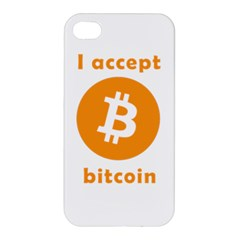 I Accept Bitcoin Apple Iphone 4/4s Hardshell Case by Valentinaart