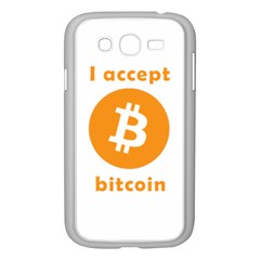 I Accept Bitcoin Samsung Galaxy Grand Duos I9082 Case (white) by Valentinaart