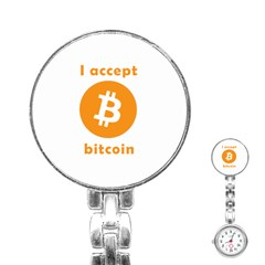 I Accept Bitcoin Stainless Steel Nurses Watch by Valentinaart