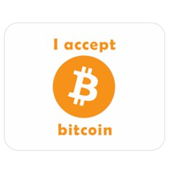 I Accept Bitcoin Double Sided Flano Blanket (medium)  by Valentinaart