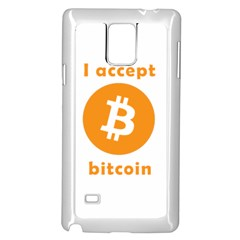 I Accept Bitcoin Samsung Galaxy Note 4 Case (white) by Valentinaart