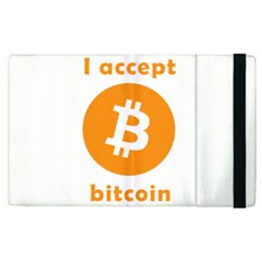 I Accept Bitcoin Apple Ipad Pro 9 7   Flip Case by Valentinaart
