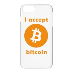 I Accept Bitcoin Apple Iphone 7 Plus Hardshell Case by Valentinaart