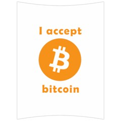 I Accept Bitcoin Back Support Cushion by Valentinaart