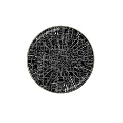 Black Abstract Structure Pattern Hat Clip Ball Marker