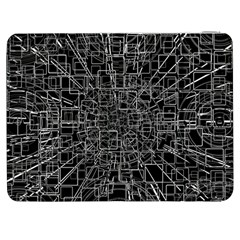 Black Abstract Structure Pattern Samsung Galaxy Tab 7  P1000 Flip Case
