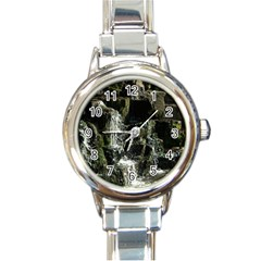 Water Waterfall Nature Splash Flow Round Italian Charm Watch