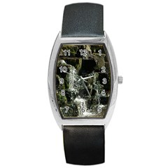 Water Waterfall Nature Splash Flow Barrel Style Metal Watch by BangZart