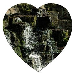 Water Waterfall Nature Splash Flow Jigsaw Puzzle (heart) by BangZart