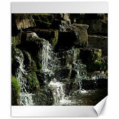 Water Waterfall Nature Splash Flow Canvas 8  X 10  by BangZart